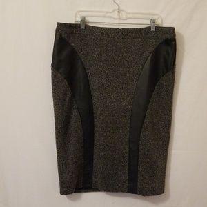 Lane Bryant Black/Grey Skirt Size 18 Back Zipper